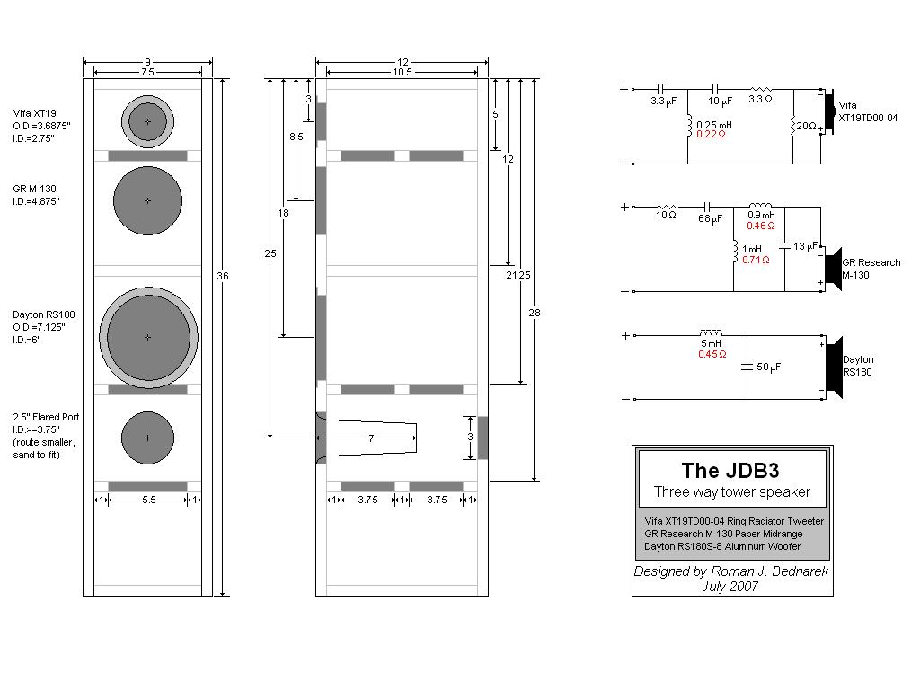 3 Way Speaker Design Plans